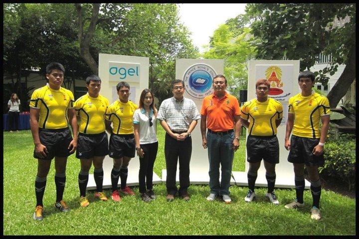 อาเจล สนับสนุนผลิตภัณฑ์เสริมอาหารแก่นักกีฬารักบี้ฟุตบอล ตัวแทนทีมชาติไทย